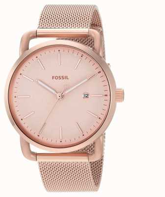 Fossil Womens The Commuter 3H Date Stainless Steel Strap ES4333