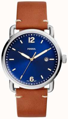 Fossil Mens The Commuter 3H Date Leather Strap FS5325