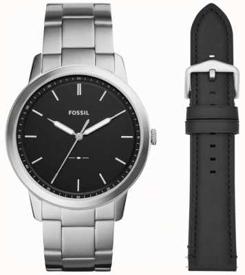 Fossil Mens The Minimalist 3H Stainless Steel Strap FS5451SET
