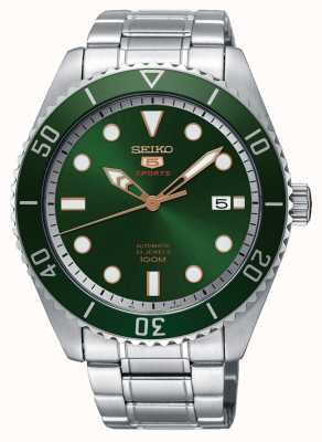 Seiko 5 Green dial & bezel Sports Automatic date display SRPB93K1