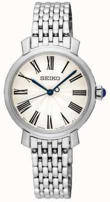 Seiko Sunrise Silver Dial Roman Numerals Stainless Steel Bracelet SRZ495P1