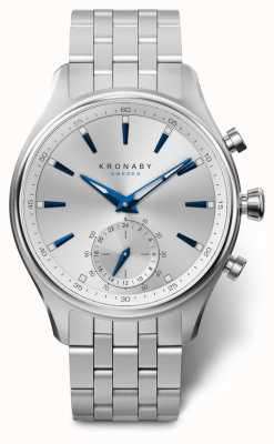 Kronaby 41mm SEKEL Silver Dial Stainless Steel Bracelet A1000-3121 S3121/1