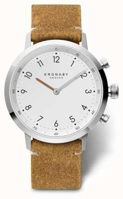 Kronaby 41mm NORD Brown Suede Leather Stainless Steel Case A1000-3128