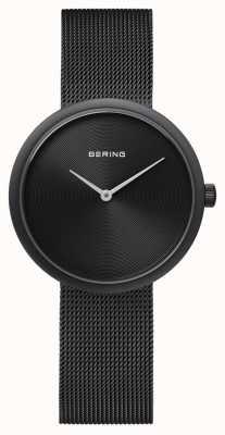 Bering Classic Matte Black Black Mesh Strap 14333-222
