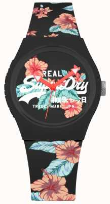 Superdry Women's Urban Black Floral Print Silicone Strap SYL160BO