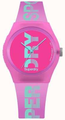 Superdry Women's Urban Pink Case Cyan Logo Print SYL189PN