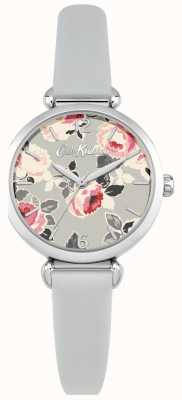 Cath Kidston Women's Floral Print Dial Stainless Steel Case Leather Strap CKL047ES