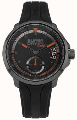 Superdry Men's Kyoto Date Display Black Silicone Strap SYG217BB