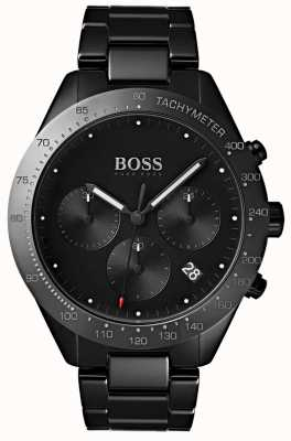 Hugo Boss Mens Talent Black Dial Date Display Black IP Plated Bracelet 1513581