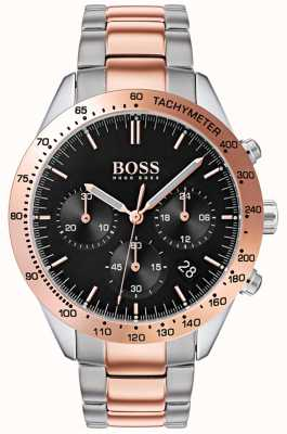 Boss Men's Talent | Rose Gold & Silver Stainless Steel Strap | 1513584