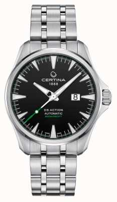 Certina DS Action Automatic Big Date black dial stainless steel C0324261105100