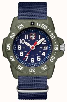Luminox Navy Seal 3500 Series Date Display Blue Face Green Bezel XS.3503.ND