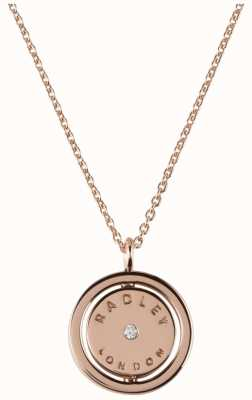 Radley Jewellery Love Radley Rose Gold Logo Spin Locket Necklace RYJ2016