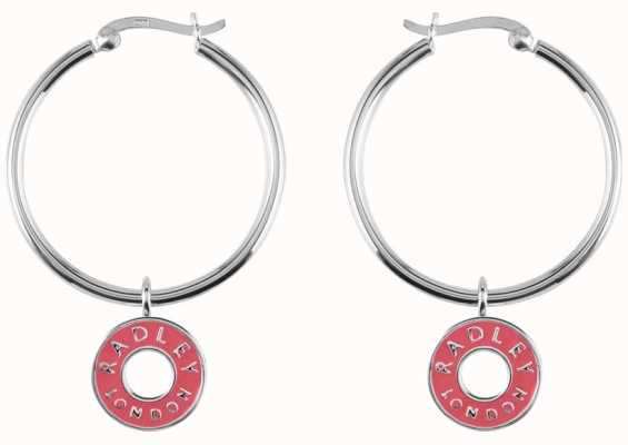 Radley Jewellery Esher Street Silver Enamel Circle Hoop Earrings RYJ1009