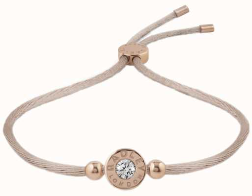 Radley Jewellery Fountain Road Rose Gold With Stone Cord Bracelet RYJ3000