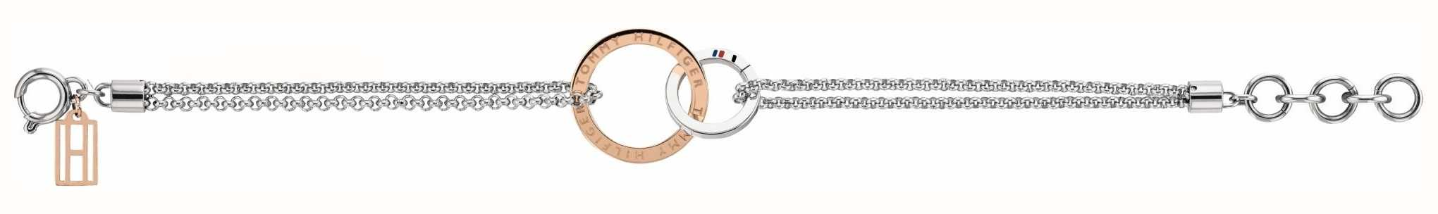 Tommy Hilfiger Womens Rose Gold Open Circle Bracelt 2780002