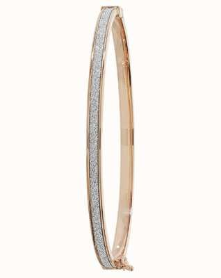 Treasure House 9k Rose Gold Hinged Bangle BN387R