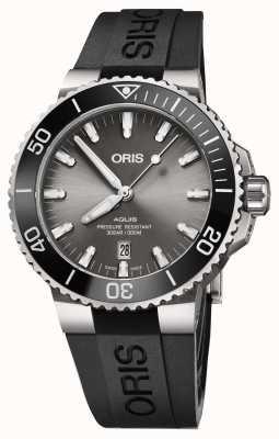 Oris Mens Titanium Aquis Metal Bracelet Grey Dial 01 733 7730 7153-07 4 24 64TEB
