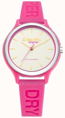 Superdry Sapporo Fluoro Pop Pink Silicone Strap SYL151P