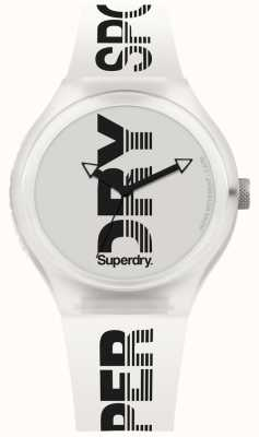 Superdry Urban XL Sport White Silicone Strap SYG189W