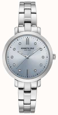 Kenneth Cole Womens Diamond Stainless Steel Case And Bracelet Watch KC15173004