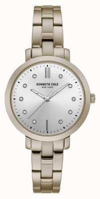Kenneth Cole Womens Diamond Set Gold Case Gold Bracelet Watch KC15173006