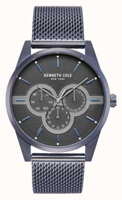 Kenneth Cole Mens Stainless Steel Case With Stainless Steel Mesh Bracelet KC15205003