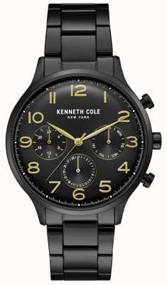 Kenneth Cole Mens Black Pvd Chronograph Watch KC15185001
