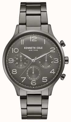 Kenneth Cole Mens Gunmetal Pvd Plated Chronograph Watch KC15185002