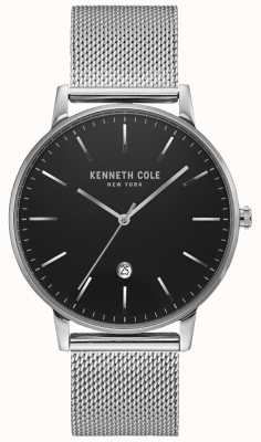 Kenneth Cole Classic Black Silver-tone Stainless Steel Mesh Watch KC50009004