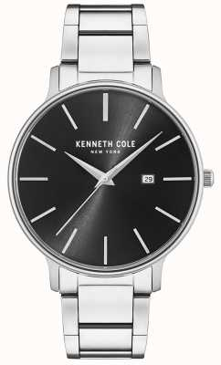 Kenneth Cole Stainless Steel Black Dial Watch With Date Display KC15059002