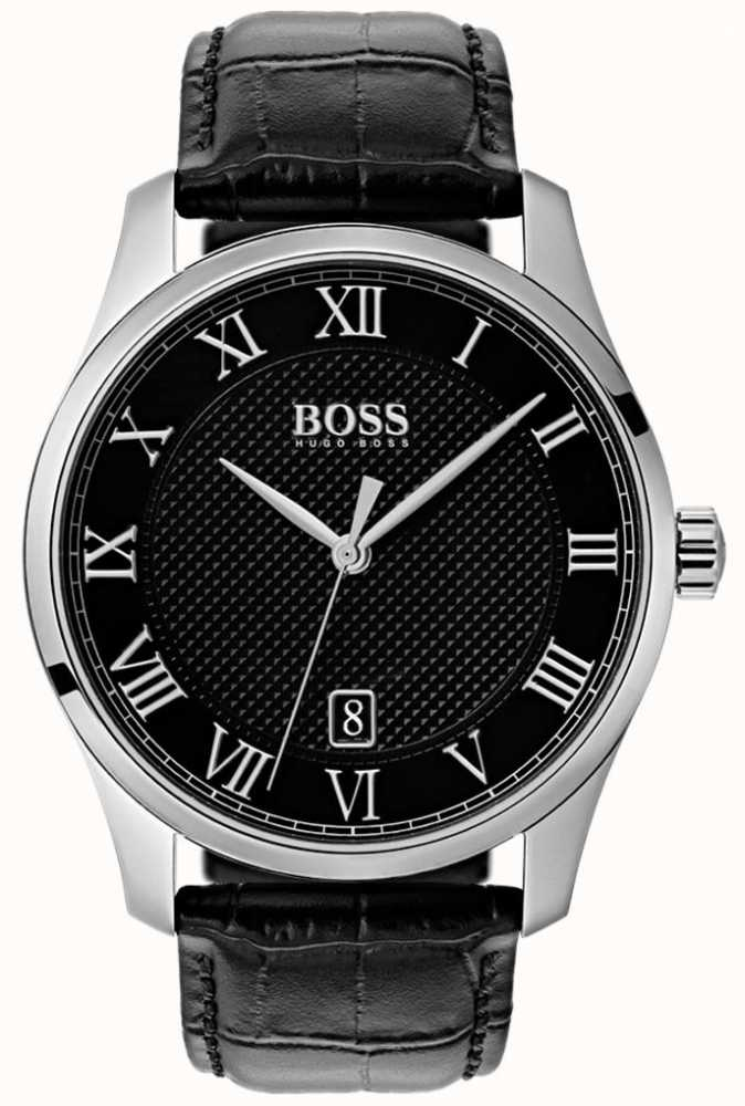 mens watch class watches black cropped boss hugo p dial thumb first leather fffcfa master