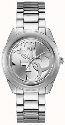 Guess Womens G Twist Stainless Steel Bracelet Silver Dial W1082L1