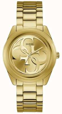 Guess Womens G Twist Gold PVD Plated Bracelet Gold Dial W1082L2