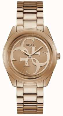 Guess Womens G Twist Rose Gold PVD Plated Bracelet W1082L3