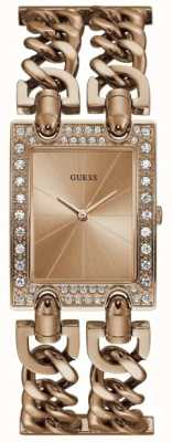 Guess Womens Mod Heavy Metal Rose Gold PVD Plated Bracelet W1121L3