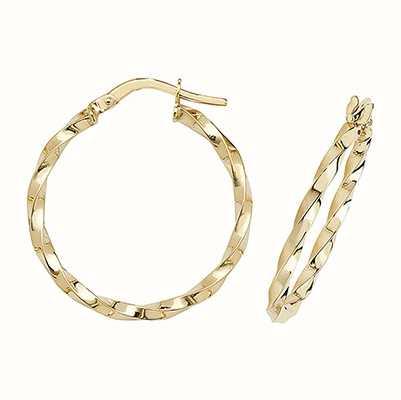 Treasure House 9k Yellow Gold Hoop Earrings 20 mm ER1008-20