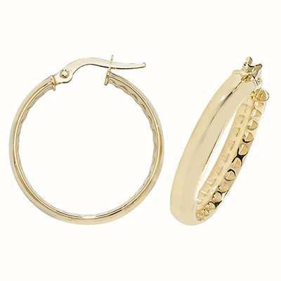 Treasure House 9k Yellow Gold Hoop Earrings 20 mm ER1053-20