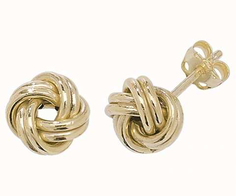 Treasure House 9k Yellow Gold Knot Stud Earrings ER527