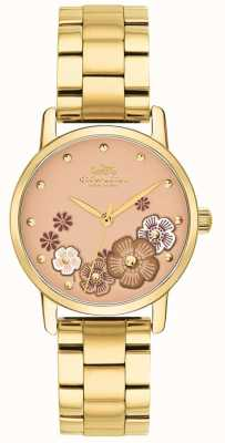 Coach Womens Grand Gold PVD Plated Bracelet 14503056