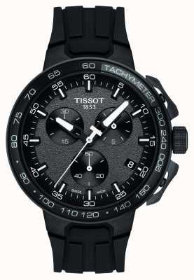 Tissot Mens T-race Cycling Chronograph Black Silicone Strap T1114173744103