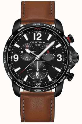 Certina | DS Podium | Chronograph 1/100th Sec | Brown Leather | C0016473605700