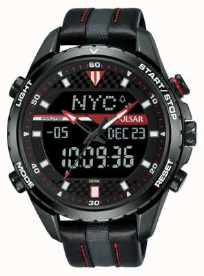 Pulsar Accelerator World Rally X Black Red Leather Strap PZ4035X1