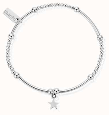 ChloBo Sterling Silver Cute Mini Star Bracelet SBCM806