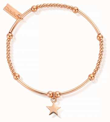 ChloBo Rose Gold Plated Cute Mini Star Bracelet RBCM802