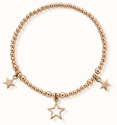 ChloBo Rose Gold Plated Triple Star Bracelet RBSB801