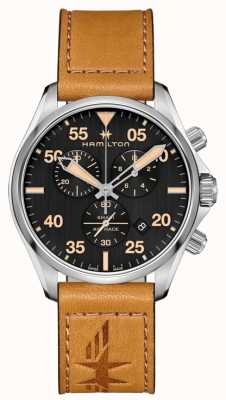 Hamilton Khaki Pilot Chronograph Quartz Brown Leather H76722531