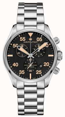 Hamilton Khaki Pilot Chronograph Quartz Black Dial Stainless Steel H76722131