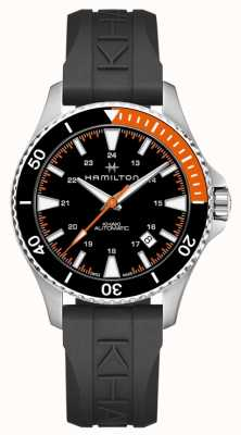 Hamilton Khaki Scuba Auto Orange Accent Black Rubber Strap H82305331