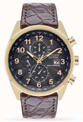 Citizen Limited Edition Radio Controlled World Chrono Leather Strap AT8039-05H